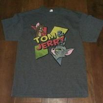 Mens Graphic Retro Style Shirt Sz L Tom and Jerry Cartoon Tv Show Free Shipping Photo