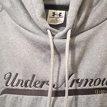 Mens Gray Under Armour Hoodie Sweatshirt Medium  Free Shipping Photo