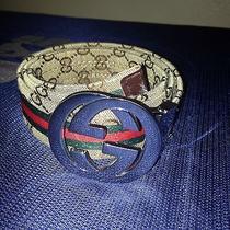 Mens Gucci Belt Red Green Stripes Tan Color Photo
