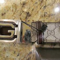 Mens Gucci Belt Reversible With Interlocking G Buckle Size 42 Photo