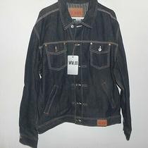 Mens Guess Jean Jacket Nwt Size Xl Dark Navy Denim