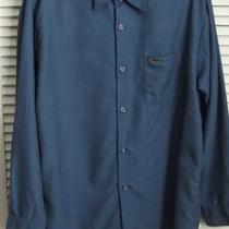 Mens Guess Jeans Long Sleeve Button Front Dress Casual Shirt Size L Photo