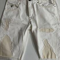 Mens Guess Jeans Shorts Denim 34 Waist. Distressed Photo