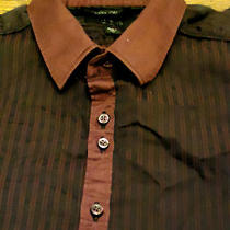 Mens Guess Los Angeles Cotton Ls Casual Button Front  Dress Shirt S Photo