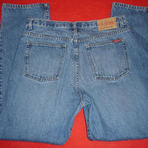 Mens Guess Straight Leg Blue Jeans Size 36 X 32 Photo