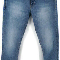 Mens h&m Skinny Fit Blue Jeans 30 X 30 Stretch Cotton Denim Zip Fly 5 Pocket Photo
