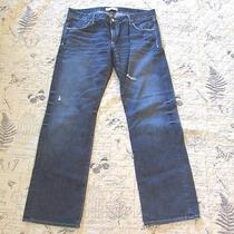 Mens Habitual Denim Distressed Dark Wash Jeans Sz 31 X 32  Nice  620 Photo