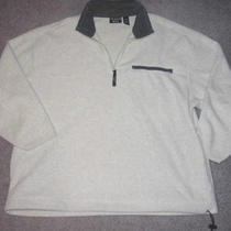 Mens Heather Gray L/s Sporty Fleece Shirt by Trader Bay Size Xl Photo