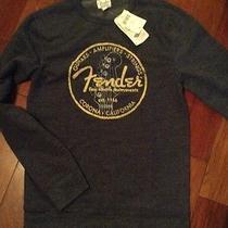 Mens Heathered Blue Lucky Brand Lightweight Fender Sweatshirt Size Small S Photo