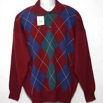 Mens Highlands Scottish Lambs Wool Sweater Argyle Size 2xl Euro 56 Photo