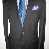 Mens Hugo Boss Black Blazer Hugo4/genius3 Jacket Super 130 Wool Sport Coat 40 R Photo