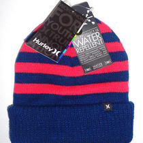Mens Hurley Beanie Hat Blue/red Cap One Size Photo