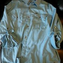 Mens Hurley Button Up Shirt Blue Xxl Cotton Long Sleeve Nice Dress  Photo