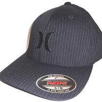 Mens Hurley Capone Black Hat Flex Fit Fitted Cap Size S/m Photo