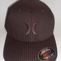 Mens Hurley Capone Brown Hat Flex Fit Fitted Cap Size S/m Photo