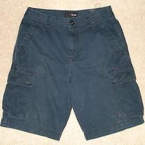Mens Hurley Cargo Shorts Size 31 Navy Blue Photo
