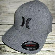 Mens Hurley Gray Hat Flex Fit Fitted Cap Size S/m Photo
