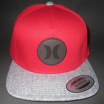 Mens Hurley Icon Vapor Snapback Red Hat Adjustable Cap One Size Photo