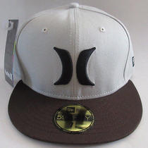 Mens Hurley Khaki/brown Hat Fitted Cap Size 7 3/8 Photo