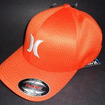 Mens Hurley Mesh Orange Flex Fit Hat Fitted Cap Size L/xl Photo