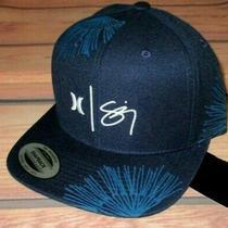 Mens Hurley Navy Blue Snapback Hat Adjustable Cap One Size Photo