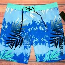 Mens Hurley Tropical Blue Swim Board Shorts Size 38 Photo