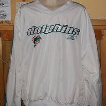 Mens Jackets Coats Miami Dolphins Nfl Jacket Windbreaker Size Xl Great Buy Photo