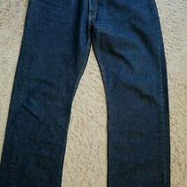 Mens Jeans Size 38 X 34 Levis Strauss 505 Straight Fit Dark Blue Denim Male  Photo