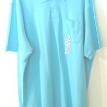 Mens John Ashford S/s Aqua Blue Polo Shirt Xxl Nwt   Photo