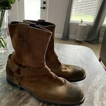 Mens Kenneth Cole Reaction Brown Leather Boots Size 10.5 Photo