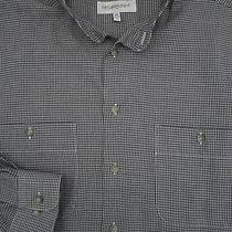 Mens L 16.5 34-35 Yves Saint Laurent Plaid Banded Collar Shirt Photo