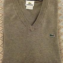 Mens Lacoste Cotten Jersey v-Neck Sweater Like New (Read Description) Size 5 Photo