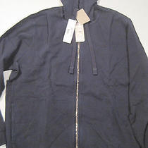 Mens Lacoste Navy Blue Xl Hooded Zip Up Hoodie - Nwt - 195.00 Photo