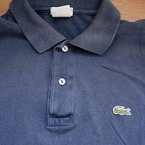 Mens Lacoste Polo Shirt Navy Blue Medium 5  6 Photo