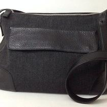 Mens Ladies Prada Messenger Bag Purse Duffle Travel Leather Strap Black Pm77 Photo