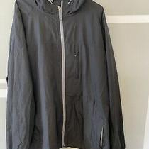 Mens Lands End Gray Hooded Rain Jacket Size Xxl (50-52) Photo