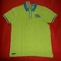 Mens Large Bright Green/aqua Hemisphere the Golfer Polo Shirt - Nwt Photo