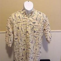 Mens Large Columbia Sportswear Fish Outdoors Button Down Casual Shirt Fishing  Photo