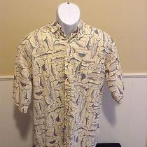 Mens Large Columbia Sportswear Fish Outdoors Button Down Casual Shirt Fishing  Photo