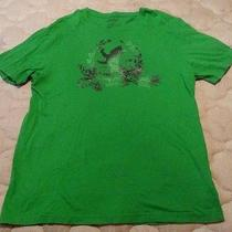 Mens Large Express Green Graphic Tshirt Photo