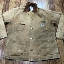 Mens Large - Vtg Carhartt Duck Blanket Lined Chore Coat Jacket Photo