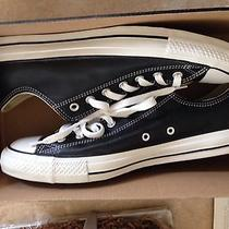 Mens Leather Converse Chuck Taylor Black Low Top Purcell Varvatos Photo