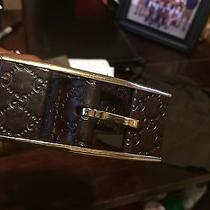 Mens Leather Gucci Logo Embossed Size 34 Gucci Belt Photo