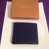 Mens Leather Gucci Wallet Made in Italy Photo