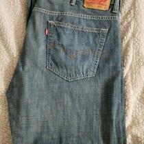 Mens Levi 569 Loose Straight Leg Dark Blue Jeans Sz 38 X 30 Photo