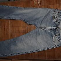 Mens Levi's 505 Regular Straight Fit 33x32 Light Wash Good Condition 061 Photo