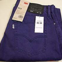 Mens Levi's 514 Slim Fit Straight Leg Purple Blue Jeans Nwt 36x34 58 Photo