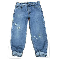 Mens Levis Regular 3832 Jeans Blue 550 Distressed Photo