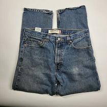 Mens Levis 505 Blue Jeans Pants Regular Fit Size 34 W 29 L  Photo