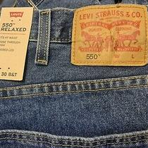 Mens Levis 550 Relaxed Blue Denim Jeans Size 46x30 Big and Tall Photo